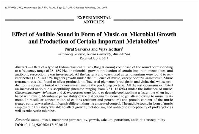 Sound and Microbes http://link.springer.com/article/10.1134/S0026261715020125#/page-1