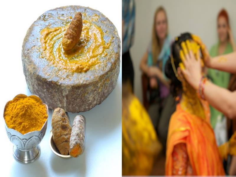 Marriage and Turmeric paste