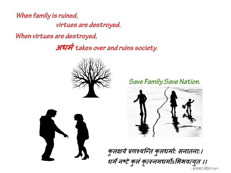 Broken families : Collapsing society