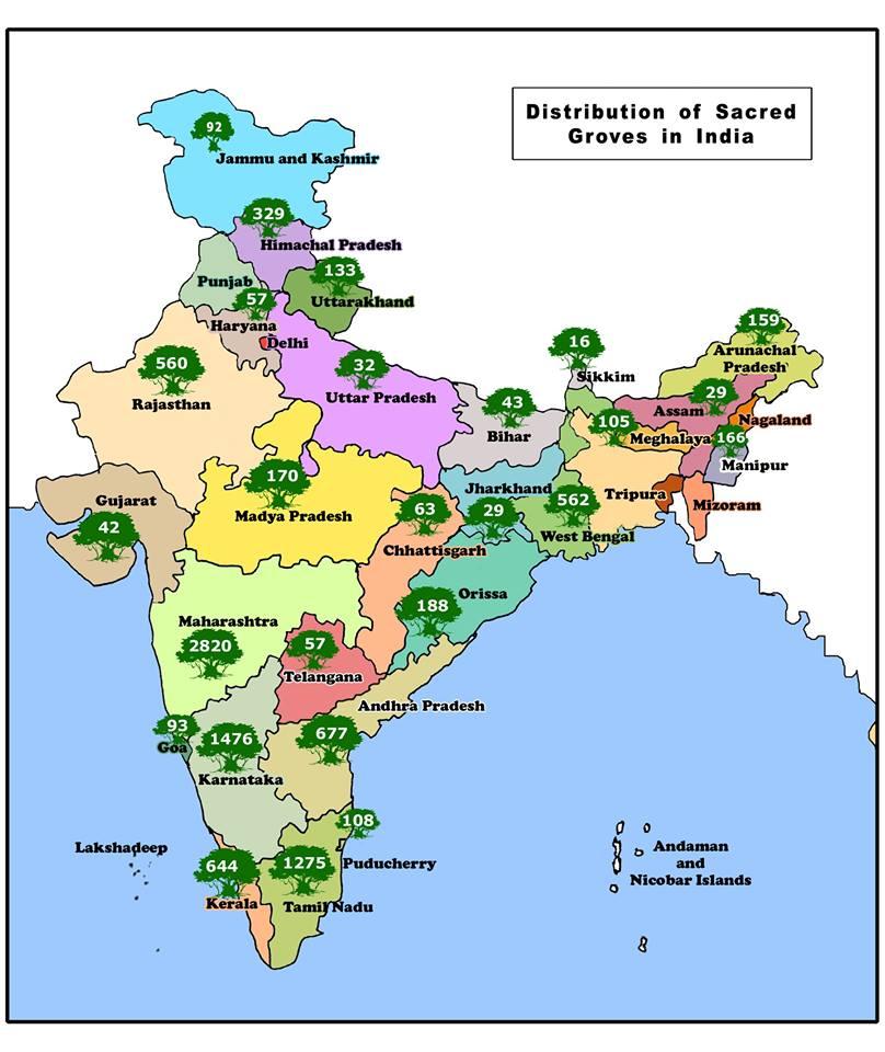 Distribution of Sacred Grove