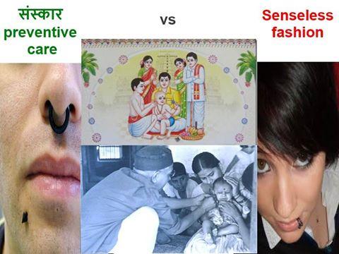 Karna Vedha Sanskar vs mindless fashion