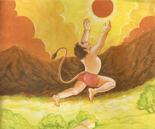 Young-Hanuman-and-Lord-Surya-Facts